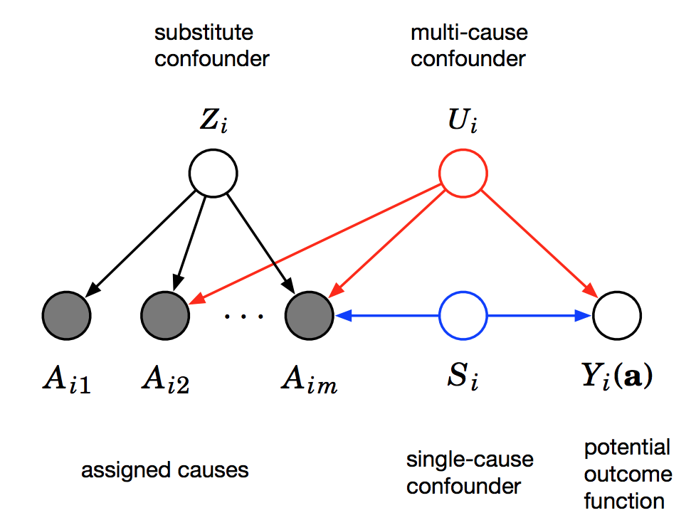 The Blessings of Multiple Causes: Causal Inference when you Can't Measure Confounders